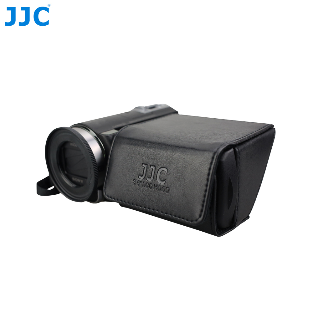 JJC 3.5 DV DSLR Video Camera Display Protector LCD Hood Fold Out Screen Sun Shield Cover for CANON VIXIA HF S20/S200/S21 image