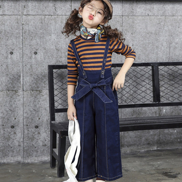 2018 New Style Casual Baby Girl Clothes Korean Style Spring Clothes For Girls 12 Years Old Fashion Denim Vetement Enfant Fille