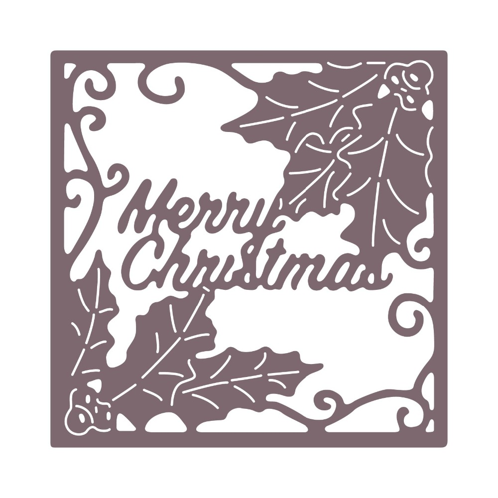 Metal DIY Merry Christmas Cutting Dies Stencil Scrapbook Album Paper Card Craft