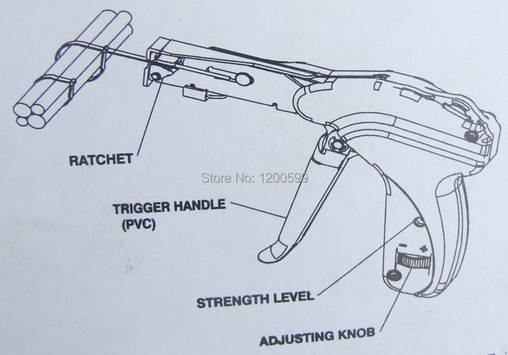 1PCS Wire Cable Tie Tension / Tensioning Fasten Tool Ties Gun ...