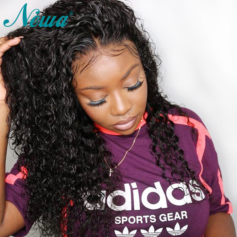 Pre Plucked Lace Front Human Hair Wigs With Baby Hair Brazilian Water Wave Lace Front Wigs For Black Women NYUWA Remy Hair Wigs