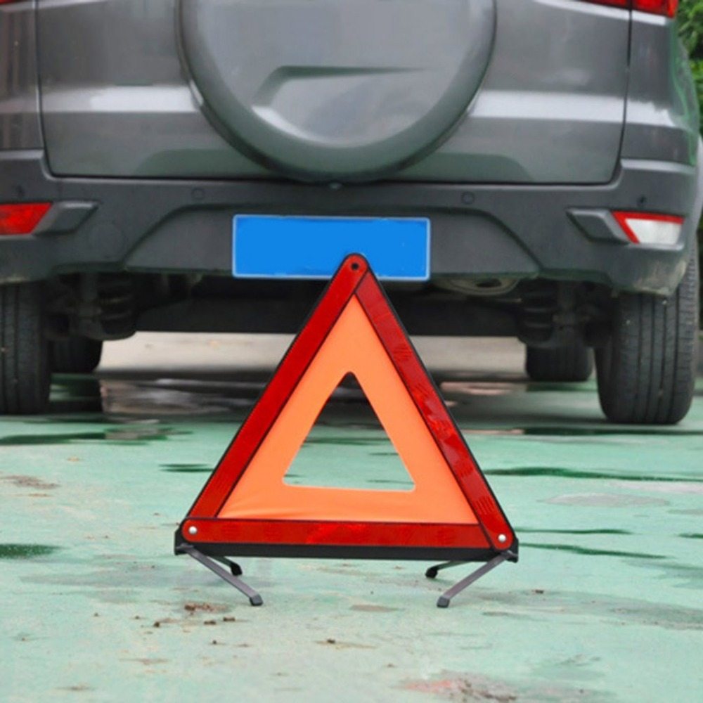 Inicio Car Reflective Triangle Sign Foldable Auto Breakdown Road Warning Triangle Car Emergency Tripod Traffic Warning Stop Sign