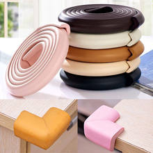 2018 Newest Hot Baby Soft Corner Protector Bumper Table Cushion Strip Chic Safety Desk Edge Foam Rubber(China)