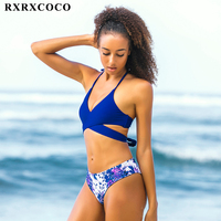 RXRXCOCO Brand Bikinis 2017 Padded Swimsuit Women Bandage Bikini Set Sexy Backless Push Up Swimwear Female