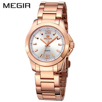 MEGIR Official 2017 Lovers Quartz Watch Watches Women Luxury Brand Couple Leather Strap Dress Wristwatch Couple