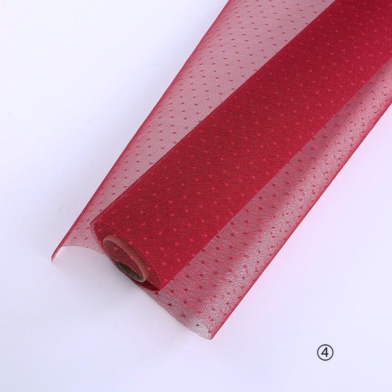 Корейский DIY оберточная сетка для цветов подарочная упаковка материал букет флорист поставки крафт украшения из бумаги для свадьбы 50 см* 5 ярдов - Цвет: 4