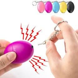 Самозащита сигнализация 120дБ яйцо форма девушка женщины Безопасность Защита предупреждение Личная безопасность крик громкий брелок