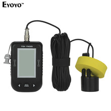Eyoyo XF-02 Original 100M Depth Portable 45 degree  200kHz Wired Sonar Fish Finder Alarm Transducer Sea Fishing With Back Light