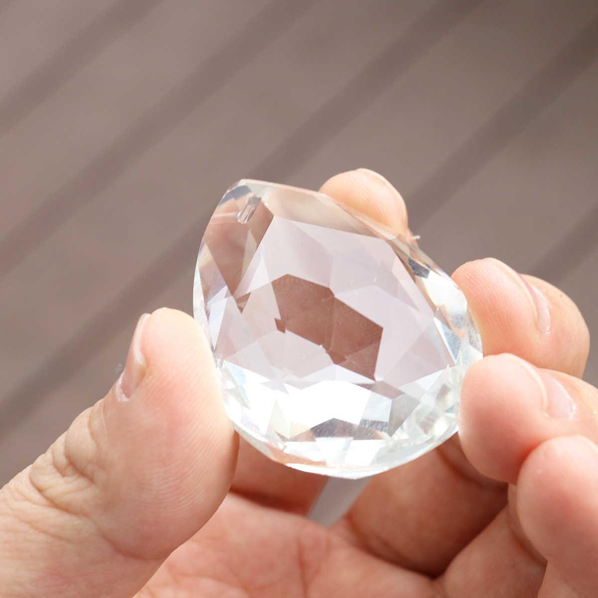 50 мм прозрачные кристаллы для люстры лампа освещение капли слез кулон шарик призмы подвесной орнамент дома/дома Декор