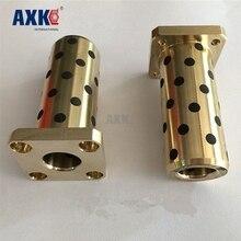 42*16/12*21*57 мм LMK12LUU безмасляный подшипник 12x21x57 мм квадратный фланец медный втулка твердая смазка встроенные кусты графитовый рукав