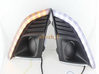 1pair LED Daytime Running Lights DRL With Fog Lamp Cover Case For Chevrolet Cruze 2013 ON