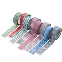 AAGU New Arrival 1PC 15MM*5M Unicorn Flamingo Washi Tape Cute Cactus Pattern Masking Tape Decorative Scrapbooking Adhesive Tape