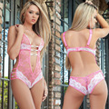 Sexy lace Siamese body yarn sexy lingerie temptation perspective jacquard female fun pajamas