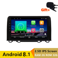 RAM 2G ROM 32G 2.5D IPS Android 8.1 Car DVD Multimedia Player GPS For HONDA CRV 2017 2018 car radio stereo navigation WIFI