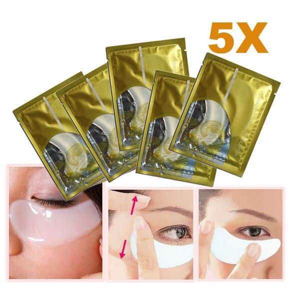 5 х Коллаген Crystal Eye Mask Пластика Век Patch Влажность Маска Кристалл Коллаген Глаз Кристалл Век Patch Против Морщин