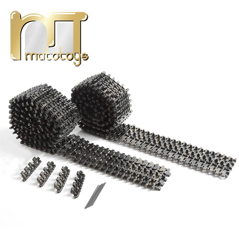 Mato Late metal tracks for 1 / 16 Tiger I Tank with Ice Cleats,spare parts for henglong rc tank,3818-1 3819-1 metal parts все цены