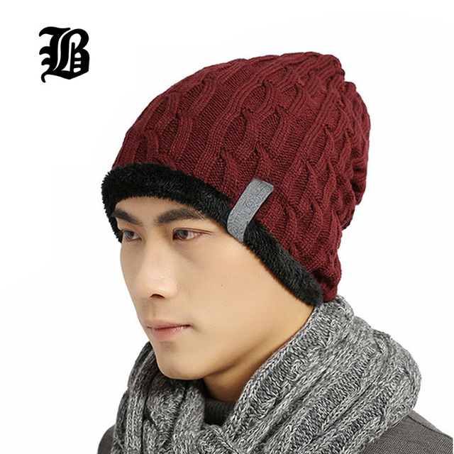 FLB  New Brand Beanies Skullies Winter Hat Knitted Caps Winter Hats For  Men Women Fitted Cap Warm Bonnet Beanie Casual 1d400133bfd