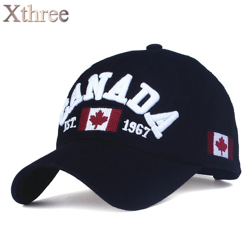 XTHREE brand canada letter embroidery Baseball Caps Snapbacks