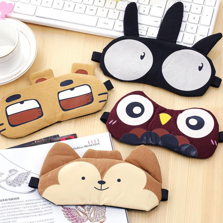 Cute Eye Mask Soft Padded Sleep Travel Shade Cover Rest Relax Sleeping Blindfold Eye Care Tools Drop Shipping Y1229