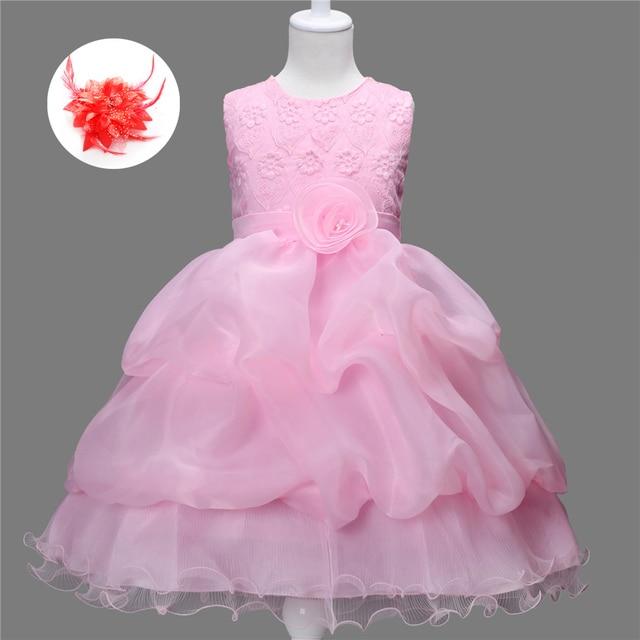 Ropa formal para niños 2 9 años Niñas boda Vestidos puffy Baby Niñas ...