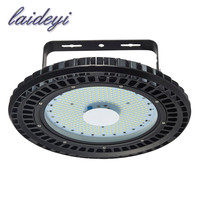 LAIDEYI 2PCS 110V 200W UFO LED High Bay Light Industrial Lamp Factory Warehouse Shed Lighting Commercial Factory Shop Lamp