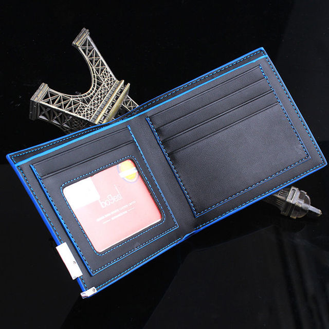 Scolour New Fashion Men Stylish Business Leather Wallets Card Holder Coin Wallet Purses male Portfolio Free Shipping&Wholesale