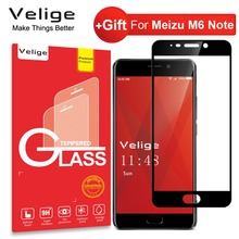 Velige Full Cover Tempered Glass For Meizu M6 Note M 6 Meilan Note 6 Note6 Screen Protector 0.3MM 9H Protective Glass Film