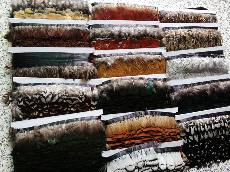 Wholesale  high quality natural Lady Amherst Pheasant Feathers ribbon 2-3inch/5-7cm wide  Decorative diy  Clothing Accessories