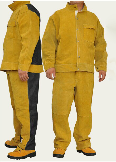 COWHIDEJEAN WELDING Suits Leather Welding Suitswelding Clothes Welding Protect Clothes In