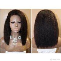 SimBeauty Italian Yaki Straight Human Hair Lace Front Wig for Black Women Glueless Lace Wigs Human Hair Kinky Straight Wigs