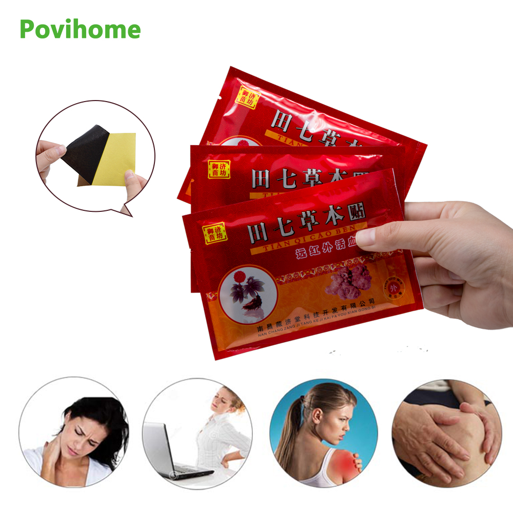 64pcs/8bags Health Care Medical Pain Relief Patch Chinese Traditional Herbal Knee/Neck/Back Pain Plaster Pain Reliever D1191 cofoe pain relief orthopedic plaster chinese medical patch paste for shoulder hand waist knee joint foot health care 8pcs set