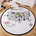 Crianças Tapetes de Jogo Do Bebê Engatinhando Cobertor Algodão Acolchoado Crianças Esteira do Jogo Gamepad Rodada World Adventures Jogo Tapetes Tapete Quarto Deco