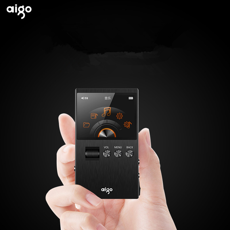 2017 Newest Aigo M6 DSD64 32G Portable Audio Hifi Lossless Music Player High Quality Mini Sport MP3 Player Can Play 60hour Black