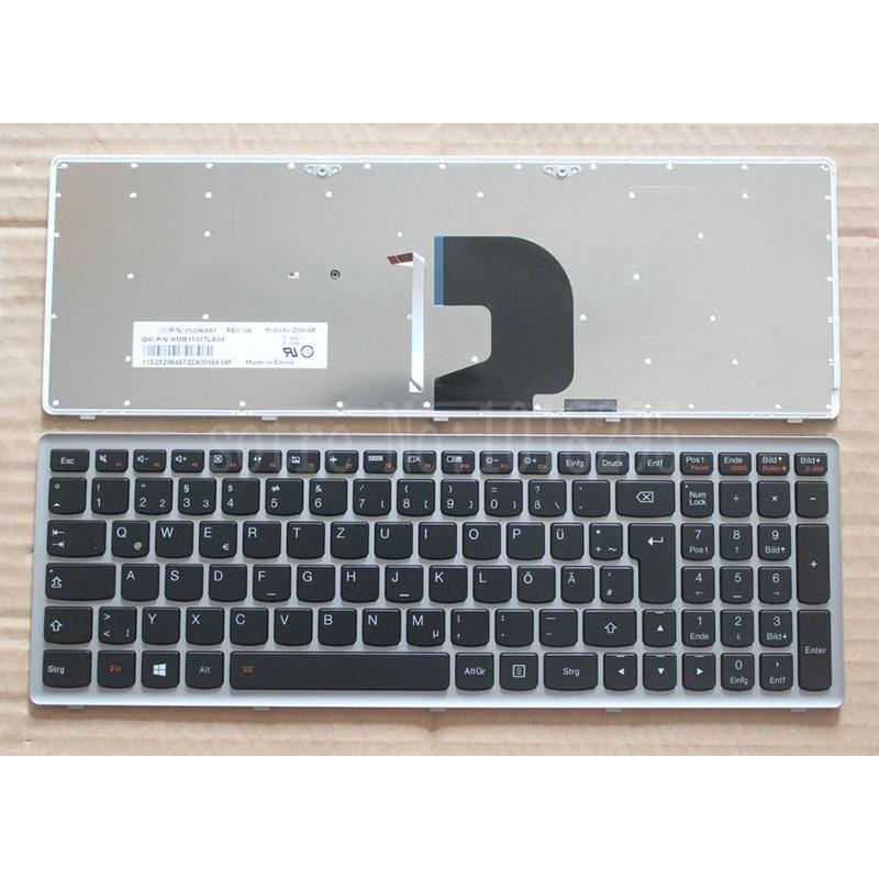 New German Laptop keyboard for Lenovo Ideapad Z500 Z500A Z500 Z500G P500 backlit Led GR keyboard with frame