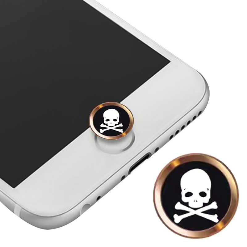 Họa Tiết Hoạt Hình Dễ Thương Nút Home Cảm Ứng Miếng Dán Kính Cường Lực Cho iPhone 5 6 6S 7 8 Plus Cho iPad Air 2 Mini nhận Dạng Vân Tay Bàn Phím
