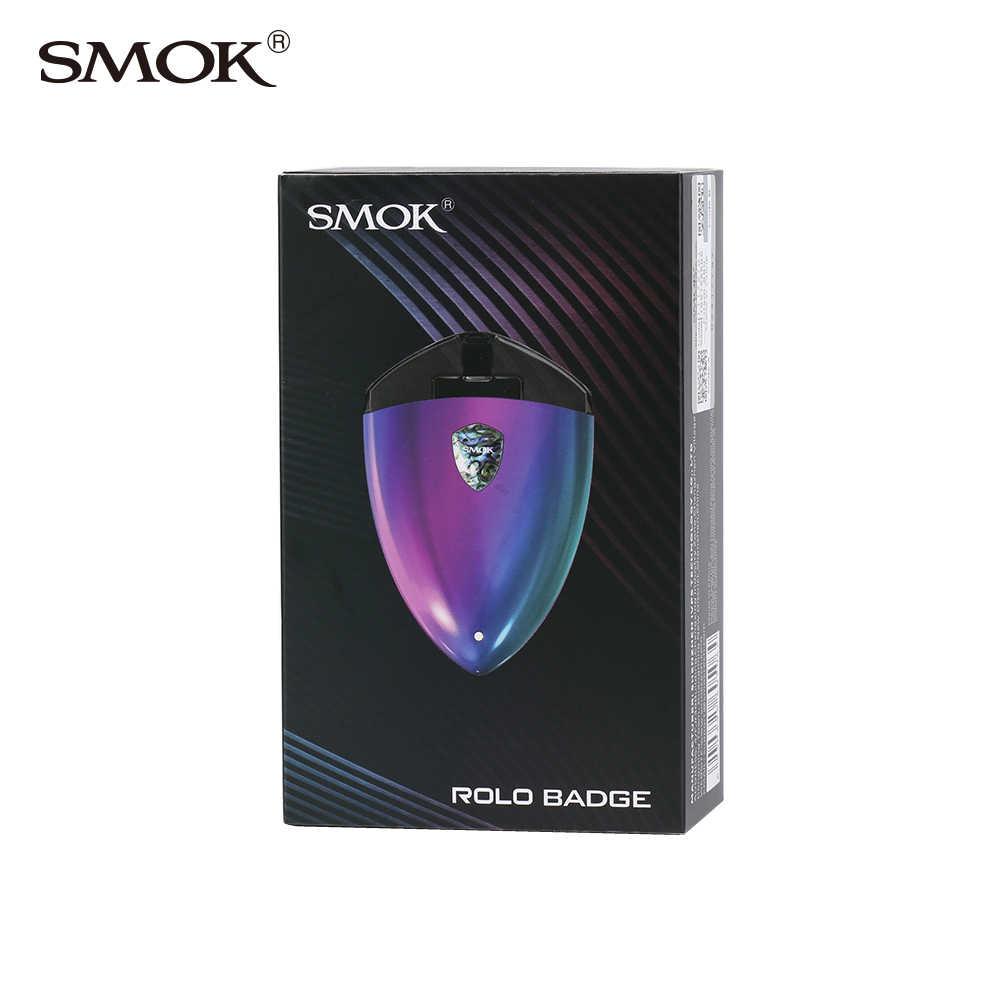 2018 New arrival SMOK Rolo Badge Kit 250mAh Cigarette Electronic with 2ml Rolo Badge Pod vaporizer e-cigarettes