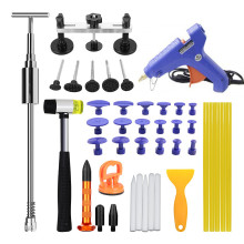 PDR Tools Paintless Dent Repair Kit Pulling Bridge Glue Gun & Sticks Combination Car Dent Removal Tool Set Household Hand Tools