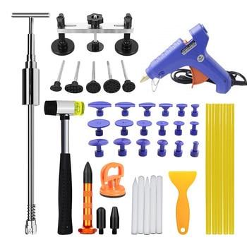 цена на PDR Tools Paintless Dent Repair Kit Pulling Bridge Glue Gun & Sticks Combination Car Dent Removal Tool Set Household Hand Tools