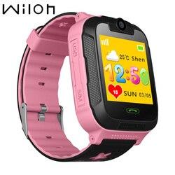 Детские часы с GPS трекер 1,4 дюймов сенсорный экран Экран Камера SOS устройство для определения местоположения 3G сети WI-FI детские часы, умные ча...