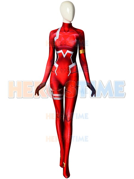 Zero Two Cosplay Costumes 002 DARLING in the FRANXX DyeSub Printed Zentai Bodysuit Women Girls Lady