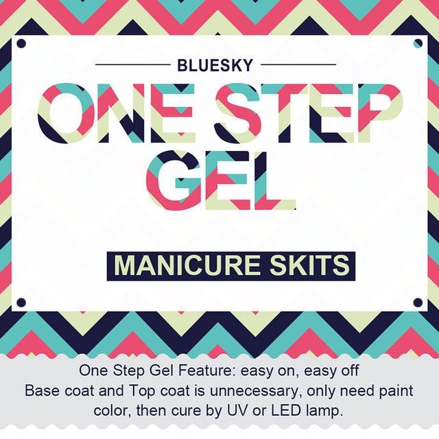 3PCS/1 Set 100% Genuine Bluesky High Quality One Step Gel 2016 Top Popular Gel Polish 10ml Nail Polish UV Gel Gel Nail Polish