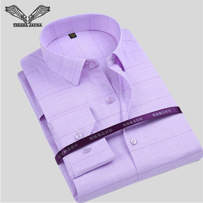 VISADA JAUNA moška majica s tiskanimi rokavi New Arrival Casual Moška blagovna znamka z dolgimi rokavi Slim Camisa Social Masculina N774
