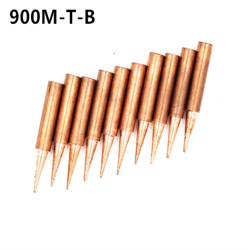 5Pcs Pure Copper 900M-T Soldering Iron Tip Lead-free For Hakko Soldering Station