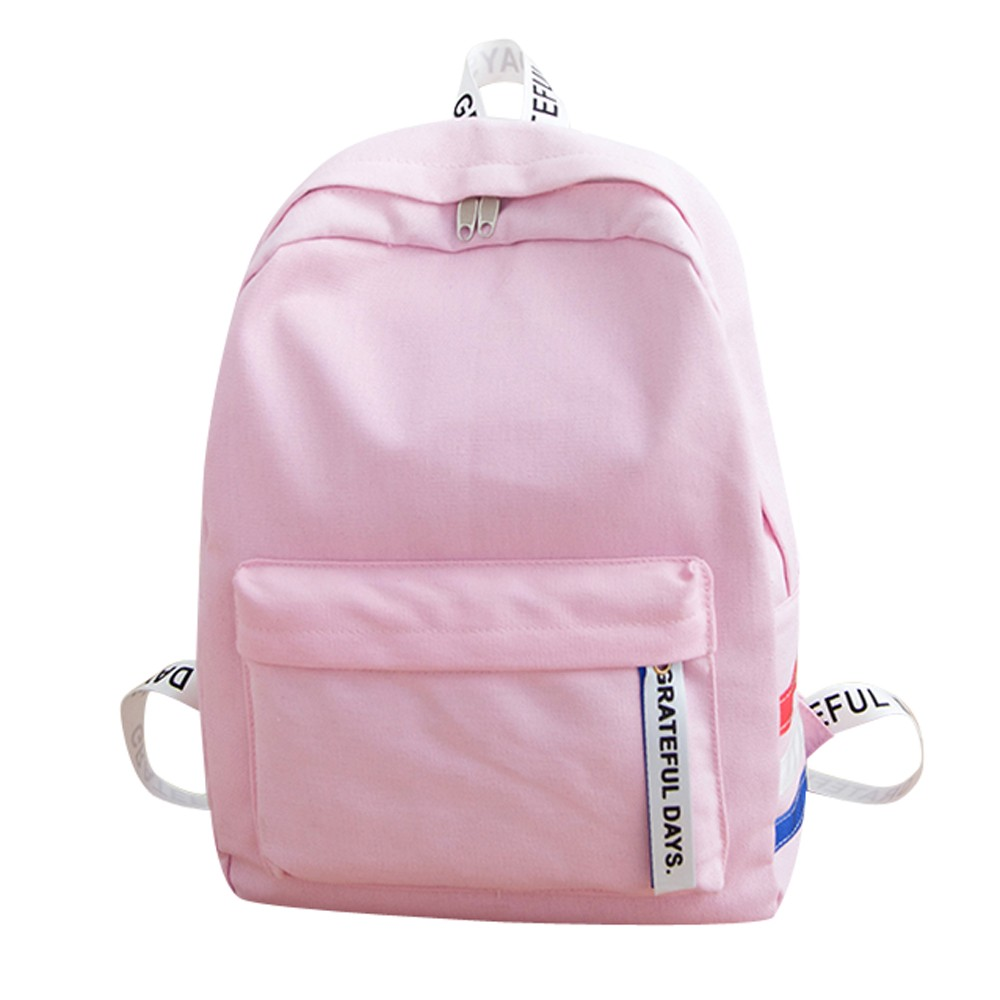 Canvas Backpack School-Bag Shoulder Leisure Korean-Style Women Simple Fashion For Youth