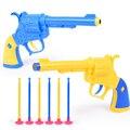 Nerf Pistola de balas de pistola de juguete Suave 2016 Nuevo 2 pistolas 6 balas suaves de plástico blando pistolet arma dardos nerf juguete pistola de mega para chica