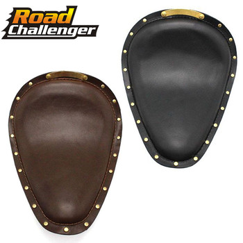 for Harley Sportster 883 XL Bobber Chopper cafe racer Brown Leather Vintage Front Solo Seat Cover