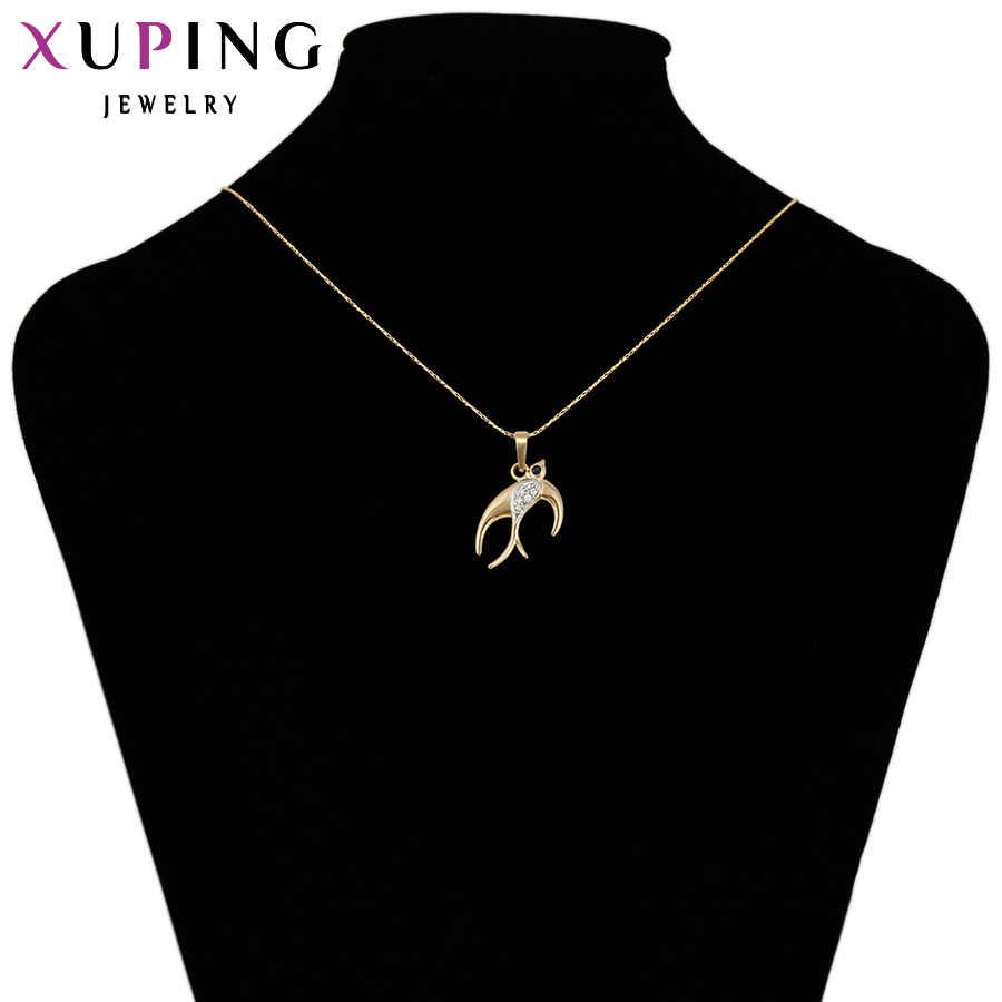 Xuping moda gorąca sprzedaż w nowym stylu syntetyczna sześcienna cyrkonia naszyjnik dla kobiet biżuteria promocja 31798