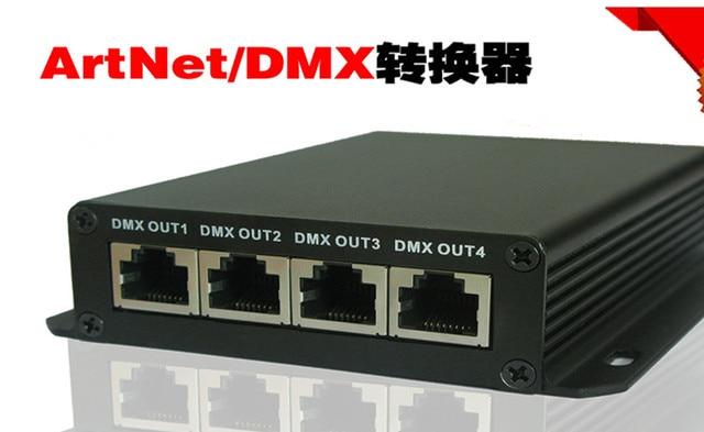 ArtNet naar DMX Converter; 4 x DMX uitgang; 2048 DMX kanalen, compatibel met Madrix EN Arkros software
