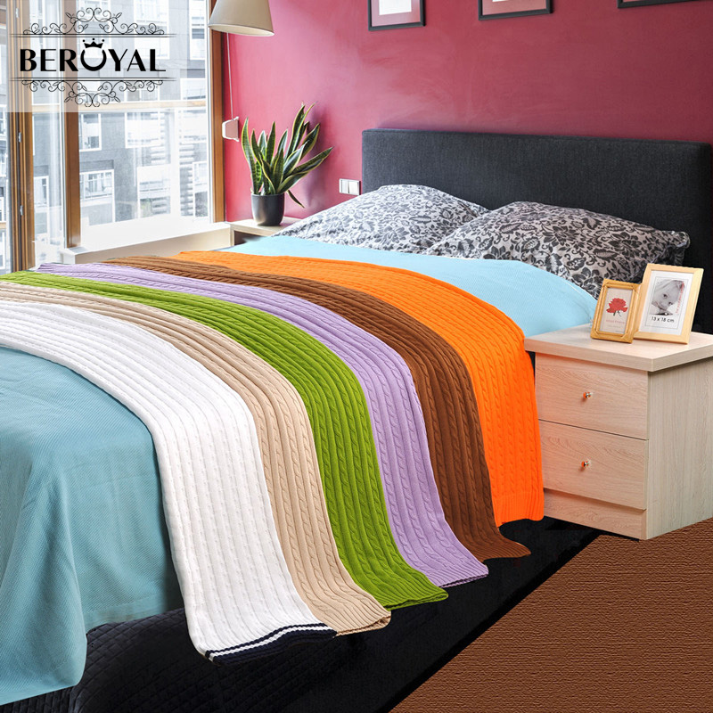 New 2017 Brand Bedding Set 1PC 120X180cm 100% Cotton Knitted Blanket for Spring/Summer on the bed Adult Sofa Blanket cobertor 100% cotton dark blue gray orange green bed sofa plane travel home blanket