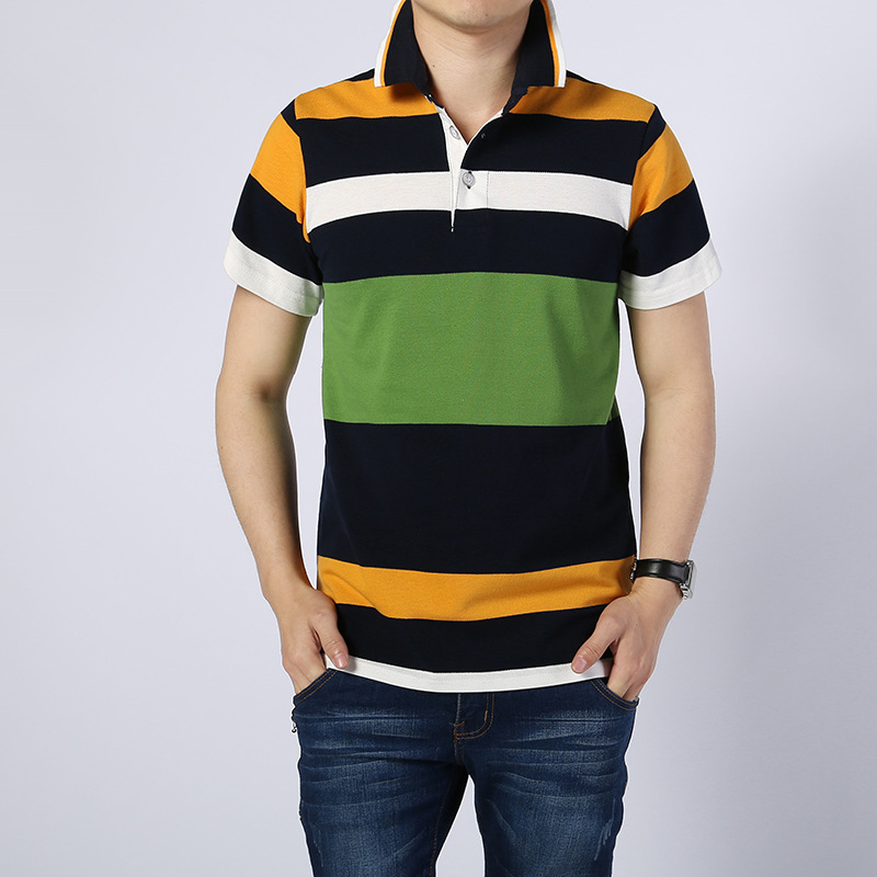 MRMT 2019 Brand New Cotton Mens   Polo   Shirt Short-Sleeved Youth Striped Summer Lapel Casual Men   Polos   Shirt